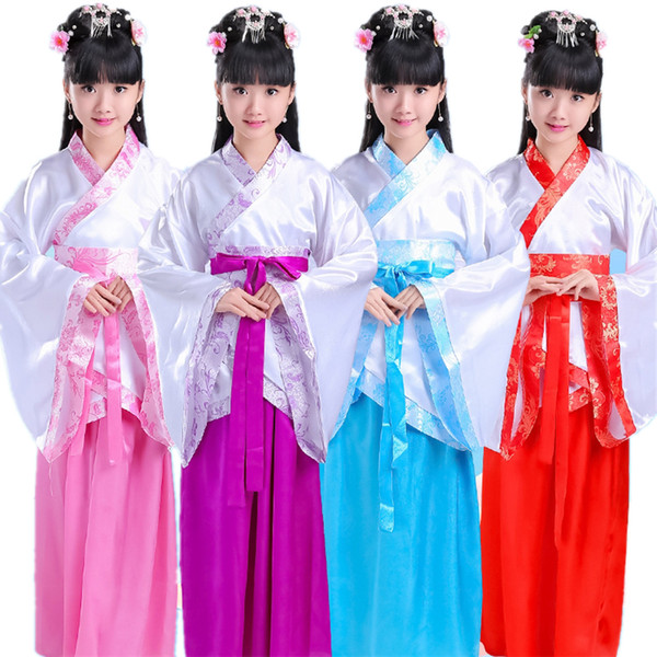 best selling Princess Festival Outfits Dynasty Kids Dance Costumes Adult Hanfu Photography Fancy Folk Dresses Solid Ancient National Clothes