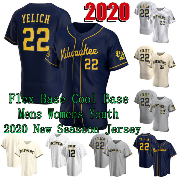 best selling Milwaukee 2020 Christian Yelich 50th Jerseys Lorenzo Cain Ryan Braun Keston Hiura Josh Hader Justin Smoak Orlando Arcia Woodruff Ben Gamel