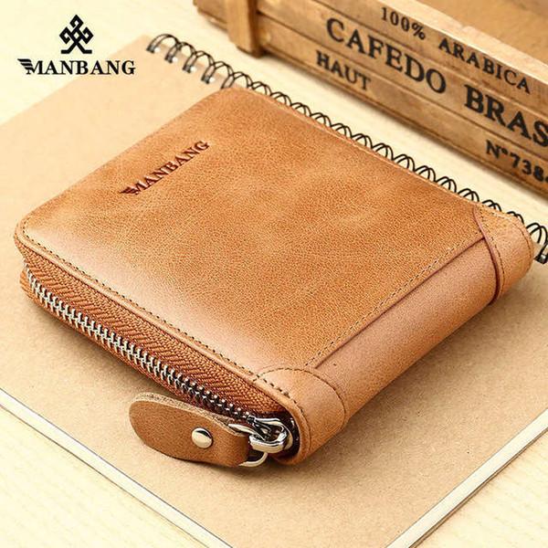 ManBang Men'S Wallet Genuine Leather Men'