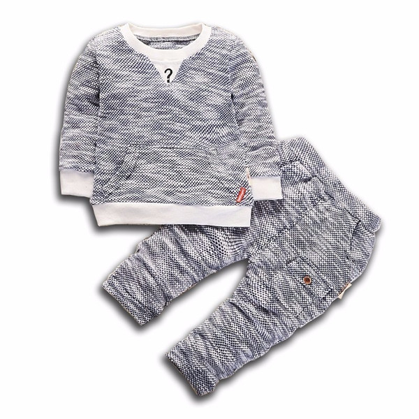 2019 Fashion Spring AutumnChildren Boys Girls Clothing Sets Baby Sweater Pants 2 Pcs/Sets Kids Knit Clothes Toddler