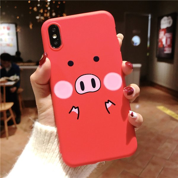 Case For iPhone XS Max XR 7 8 6 6s Plus Cartoon Cute Pig Animal For iPhone Soft TPU Silicone Back Cover Case