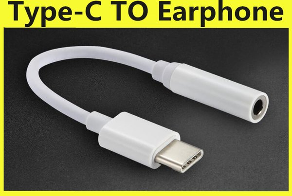 USB 3.1 Type-C to 3.5mm Earphones Cable Adapter Type C USB-C Male to Female Jack USB 3.1 Audio Cord Adapter for Type-C Smartphone