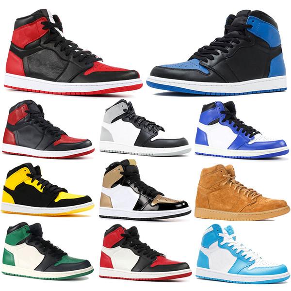 1 Dsigner Не для перепродажи Мужская баскетбольная обувь Мужская дизайнерская обувь 1s Varsity Maize Varsity Красные спортивные кроссовки Us 7-13