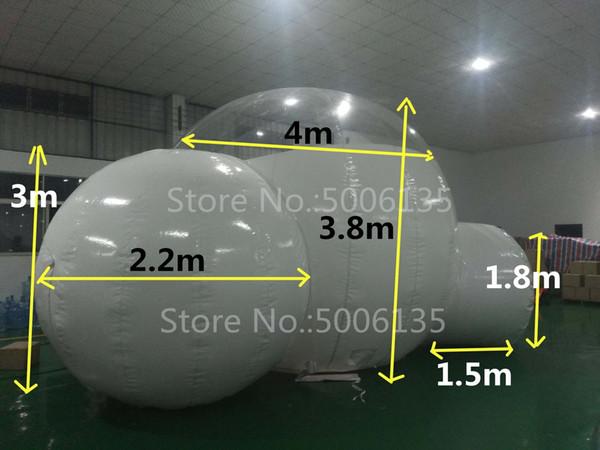 Tenda gonfiabile della bolla del doppio canale di 4m con il tunnel PER LA VENDITA Produttore della Cina, tende gonfiabili per le fiere commerciali, tenda gonfiabile del giardino