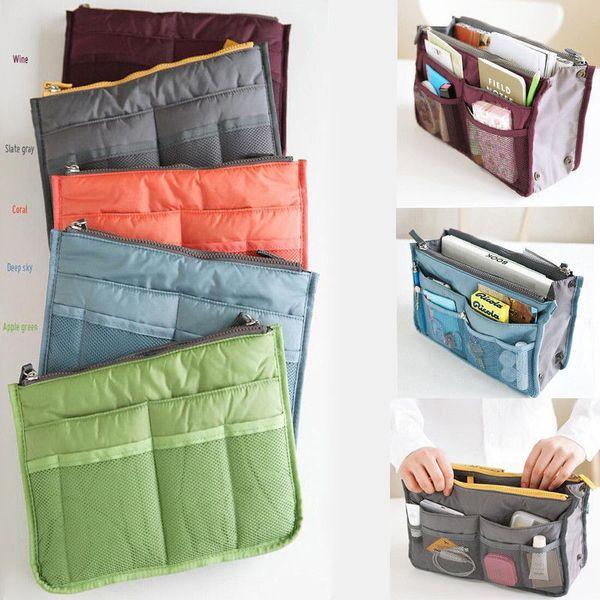 Women Lady Travel Insert Handbag Organizer Purse Large Liner Cosmetic Organizer Insert Bag #110284