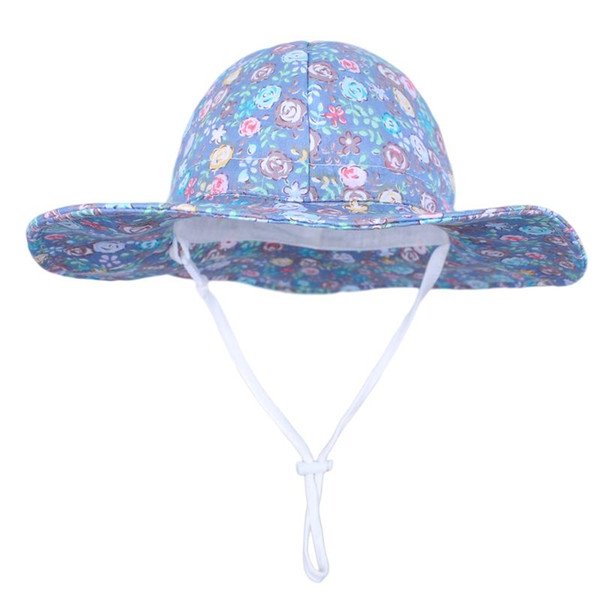 Wide Brim Chin Strap Summer Play Hat Outdoor Toddler Swim Beach Pool Hat Kids UPF 50 Baby Sun Hat Adjustable