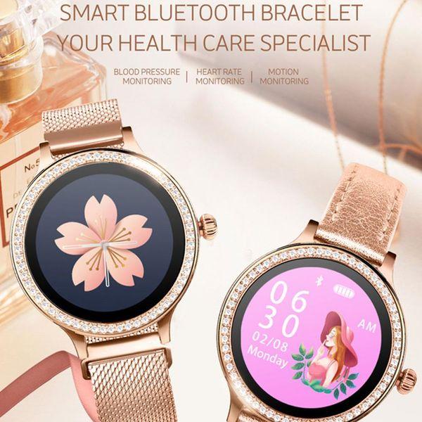 M88 Femmes Montre Intelligente Bracelet IP68 Étanche Lady Smart Band Moniteur de Fréquence Cardiaque Fitness Tracker Santé Bracelet Montre-Bracelet