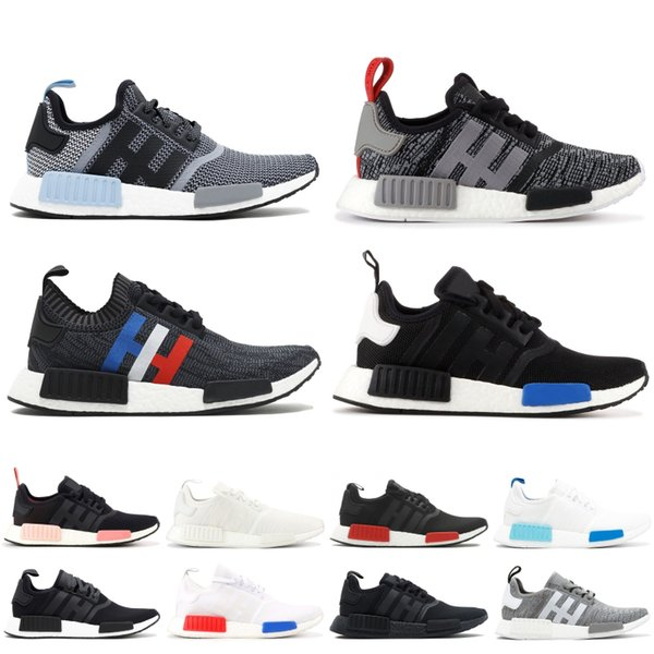 the latest aba8e 7f74e 2019 NMD XR1 Primeknit Running Shoes Triple Black Vintage White Men Women  Sport Sneakers Trainer Designer Shoes With Box 5 11 Trail Shoes Shoes ...