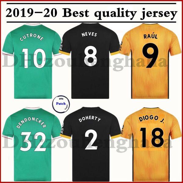 2019 2020 Wolves NEVES RAUL casa Terceira camisa de futebol 19 20 Wolverhampton Wanderers camisas de futebol para crianças CUTRONE DIOGO J. maillots de foot