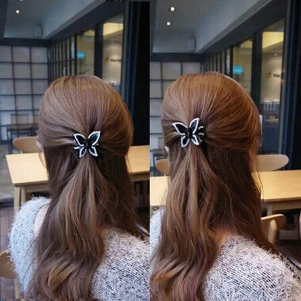 Butterfly Crystal Rhinestone Claw Hairpin Women Hair Clamp Accessory Clip New