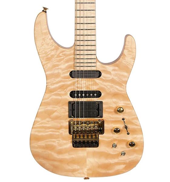 NOUVEAU Custom Shop Jack Son PC1 Signature Phil Collen naturel érable pommelé Chlore Guitare électrique d'or Tremolo, Micros actifs 9v batterie