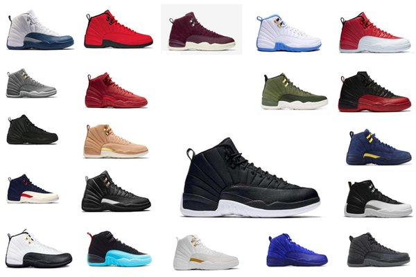 HOT SALE New Winterized 12 PE Michigan black WNTR Suede 12S Mens Basketball Shoes Sneakers GS Hyper Designer Jumpman Trainers zapatos