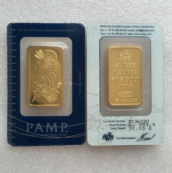 1 oz PAMP I Gold Bar