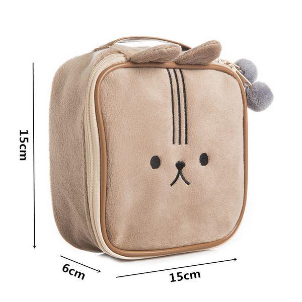 Cute Cosmetic Bag Cartoon Girl's Mini Pouch Travel Wash Makeup Tools Organizer Case Box Accessories Supplies