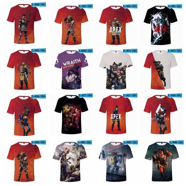 Apex Legends camiseta 37 estilos Verano 3D Imprimir juegos de video Manga corta O Cuello Camisetas Fitness Tops Blusa adolescente XXS-4XL 100pcs AAA1827
