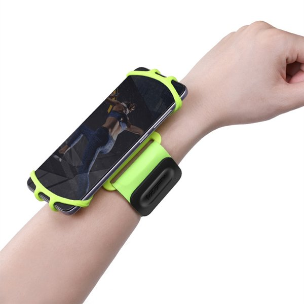5.3-8.5in Adjustable Gym Sports Armband Running Bag Sweat-proof Cell Phone Case Holder Cycling Wrist Band for iPhone for Samsung #181980