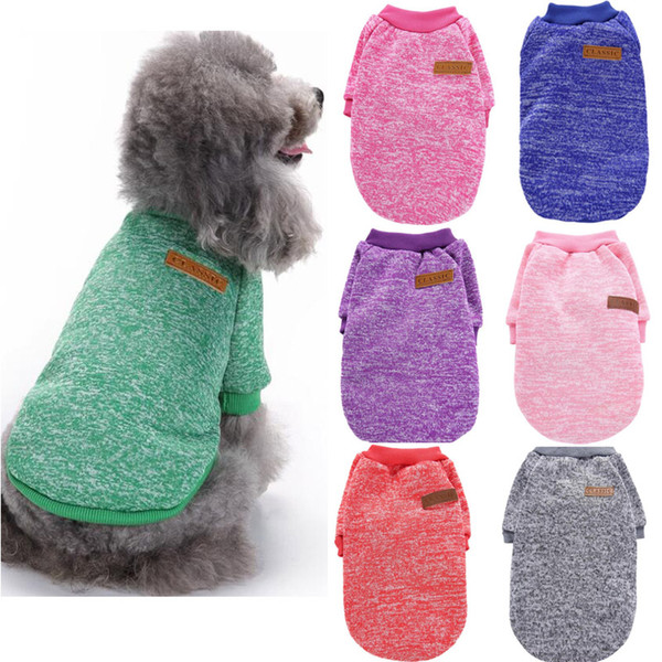 Small Dog Clothes Dogs Sweater For Teddy Chihuahua Teddy Winter Autumn Shirt Cotton Coat Warm Clothing Apparel