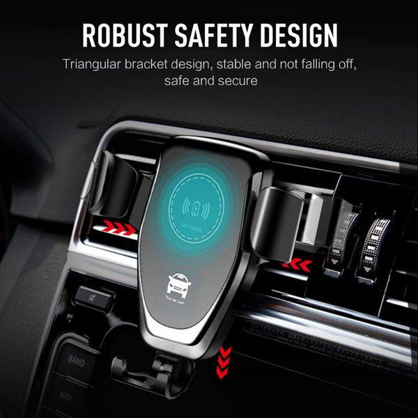 Auto montieren 10 watt qi wireless-ladegerät für iphone xs max x xr 8 schnellladung schnelle drahtlose ladekissen auto halter stehen