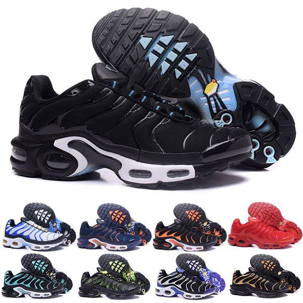 presenting usa cheap sale 100% quality Acheter Nike Air Max TN Plus Airmax Soldes Original 2018 NEW TN Plus Hommes  Chaussures Pour Pas Cher Tn Plus Blanc Noir Bleu Basketball Casual ...