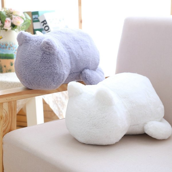 Kawaii Plush Staffed Cute Shadow Cat Dolls Kids Gift Doll Lovely Animal Toys 3 Colors Home Decoration Soft Pillows Q190521
