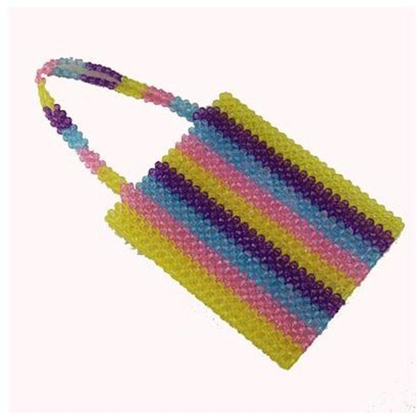 New Plastic Pearl Top-Handle Bags For Women Tote Bag Luxury Handbags Women Bags Designer Hollow Multiple Colors Party Shoulder