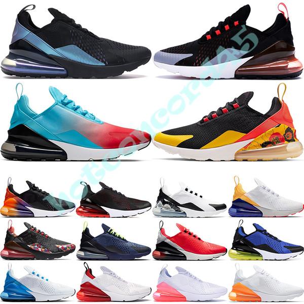 top popular CNY Firecracker Men Women Warriors Floral Black Gradient Throwback Future Rainbow Heel Red Orbit Triple White Womens Sport Sneakers 36-45 2019