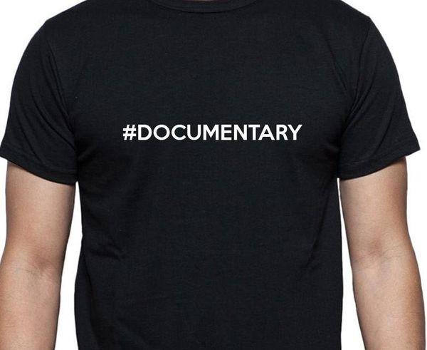 PERSONNALISÉ #DOCUMENTAIRE DOCUMENTAIRE T-SHIRT HASHTAG TRAVAIL CHEMISE CADEAU Mode Homme T-Shirt intéressant Photos