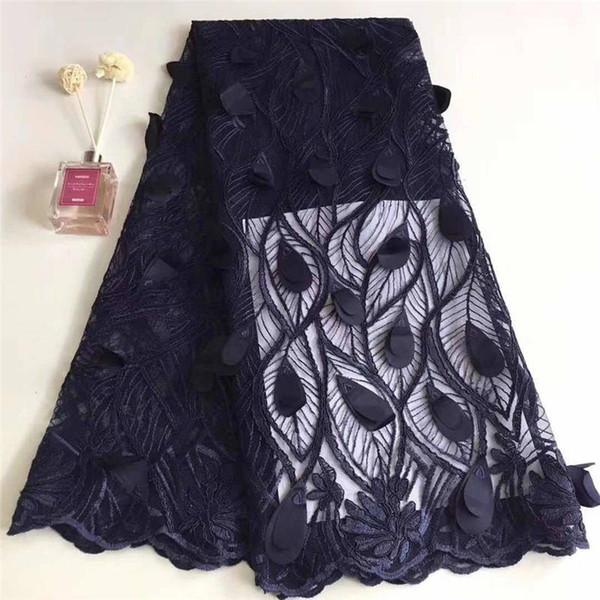 Boncuk Ile çiçek Afrika Tül Dantel Kumaş Taşlar Boncuk Dantel Düğün Elbise Için Nakış Kumaş Dantel A1473