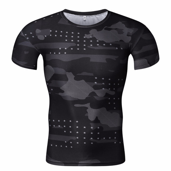 America Funny Tights Hip hop tshirt Compression T Shirt Men 3D Print T-Shirts Bodybuilding Fitness Tops T shirt