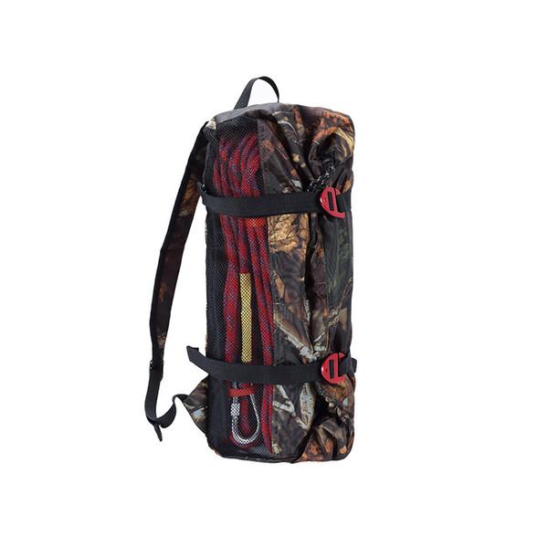Gran capacidad de viaje de camping impermeable camuflado carpa bolsa pesca exterior caza senderismo escalada cuerda de almacenamiento de nylon bolso