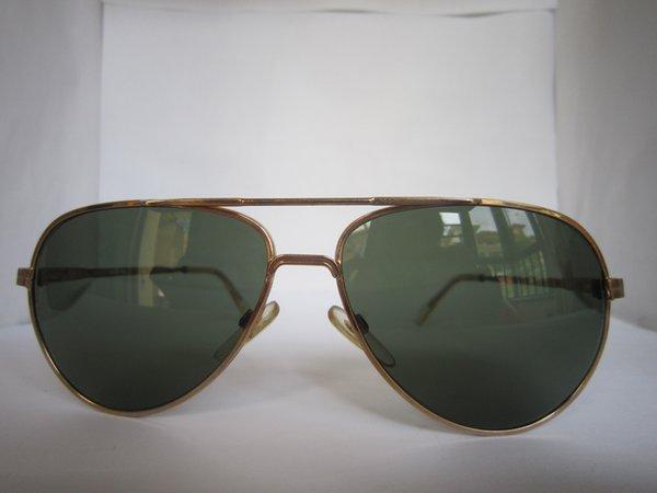 винтаж человек пилот солнцезащитные очки авиатор золотой цвет стекло линзы
