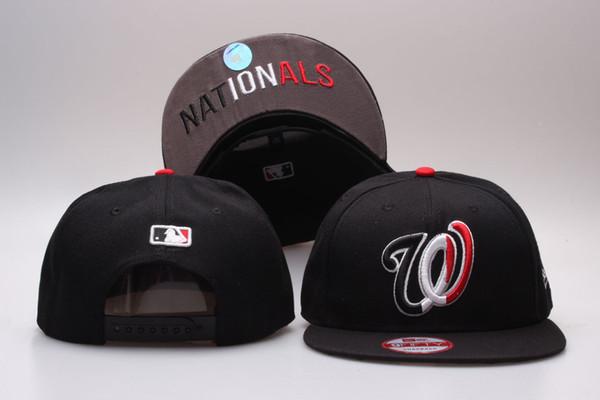 Hotsale Sport Nationals Baseball Beyzbol 47 'Tasarım Brim Star Brim Markaları ile yaz Dışarı Kapı Snapback Plastik Snapback Kapaklı Şapkalar İçin