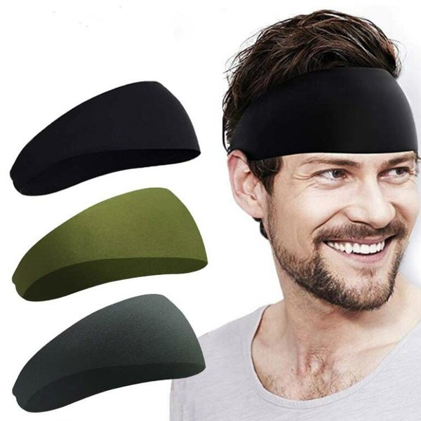 top popular Sport Headband Bandana Yoga Headband Quick Drying Elastic Headbands Working Out Gym Hair Bands for Sports Fitness 2021