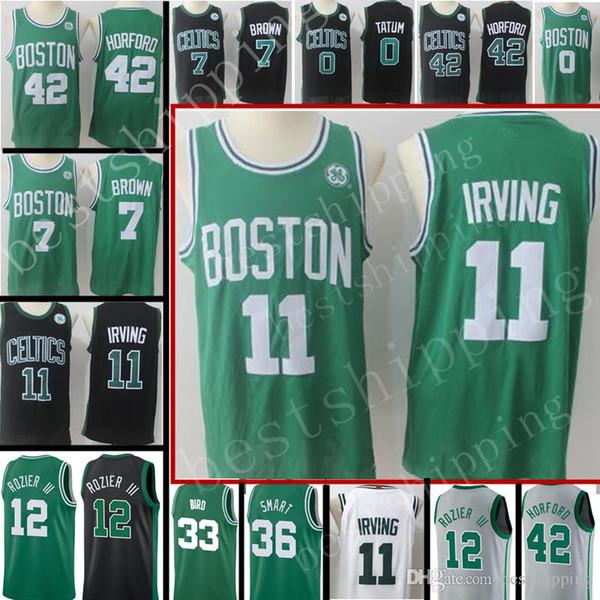 low priced b81bb e4f54 2018 2018 New Boston Celtics Jerseys Men'S #11 Kyrie Irving 33 Larry Bird  36 Marcus Smart 12 Terry Rozier III Jersey City Basketball Jerseys From ...