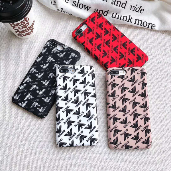 New Popular Luxury Designer Famous Pattern Phone Case For iPhone X XS Max XR 6 6s 7 8 Plus Hard Back cover phone case Back Pocket as Gift