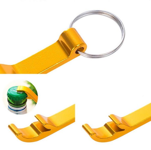 Bottle Opener Portable 4 in 1 Bottle Opener Key Ring Chain Keyring Keychain Metal Beer Bar Tool Unique Gift DHL Free Shipping