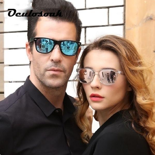 2019 Brand Unisex Square Vintage Polarized Sunglasses Mens Women Rivets Night Vision Retro Sun Glasses Gafas Oculos Uv400