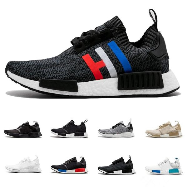 top popular NMD Runner R1 Primeknit Triple black White nmd Casual shoes For OREO NMD sneakers sport shoes designer shoes 36-46 2019