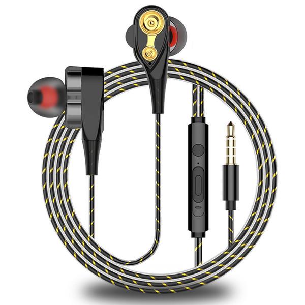 EORV3S Ear-in-Ear-Ohrhörer für schwere Bässe Schalldichter Ohrstöpsel Drahtgesteuerter Universal-Ohrhörer mit Mai Quad-Core-Dual-Action-Spule