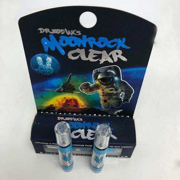 Moonrock прозрачный картридж с логотипом промозглый Vapes 510 нить 1 грамм керамическая катушка Vape тележки 2.0 мм впускное отверстие для густого масла