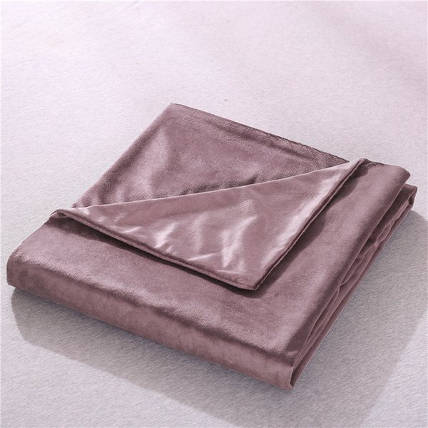 Luxury Explosive Gravity Manufacturer minky cotton cool and warm gray soild weighted with duvet cover for love