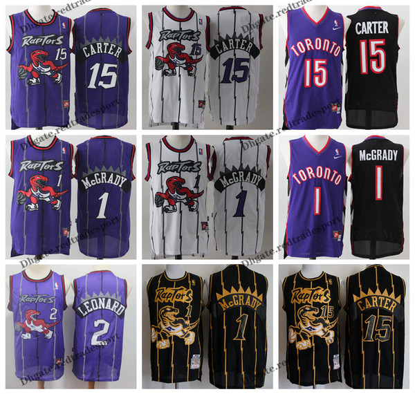 wholesale dealer 70d03 178de 2019 Vintage Mens Toronto Kawhi Leonard Raptors Basketball Jerseys Cheap  Tracy McGrady #15 T Mac Vince Carter Stitched Shirt S XXL From  Redtradesport, ...