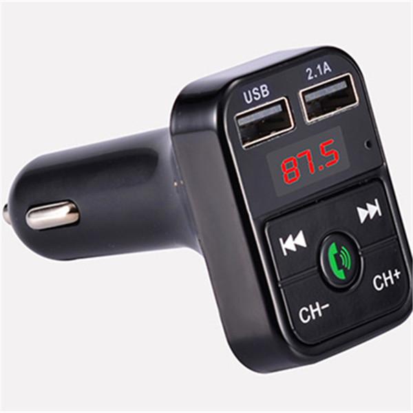 El más nuevo B2 inalámbrico Bluetooth Multifunción transmisor FM Cargador de coche USB Mini reproductor de MP3 Kit de coche Titular de la tarjeta TF Manos libres Modulador de auriculares