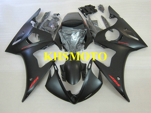 Top-rated Injection mold Fairing kit for YAMAHA YZFR6 05 YZF R6 2005 YZF600 ABS Plastic Matte black Fairings set+Gifts YN35