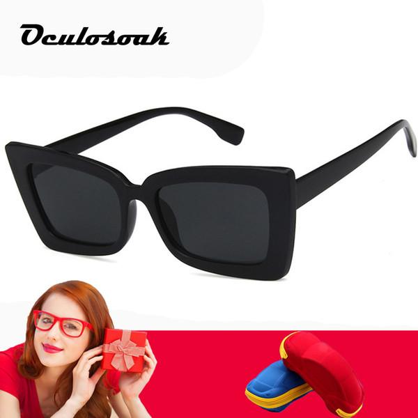 2019 New Square Óculos De Sol Das Mulheres Designer de Marca de Olho de Gato Óculos de Sol Dos Homens Ao Ar Livre de Viagem de Condução Óculos De Sol Do Vintage Cor Filme