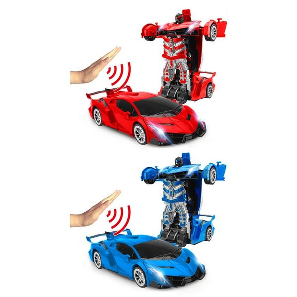One-Button Deformation Remote Control Car Robot - Gesture Induction Deformation Toy
