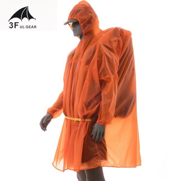 3F UL Outdoor Gear légère pluie manches longues Veste Poncho Sac à dos étanche Raincoat pour Camping HikingTravel