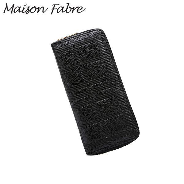 Maison Fabre Bag ladies vintage wallets for women female wallet leather zip long wallet purse Card Holder purses and handbags