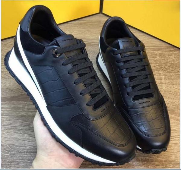 Vendas Hot monstrinhos olhos Top qualidade de todos os homens do couro de costura ocasional planas Sneakers marcas de luxo transporte livre vêm 100637
