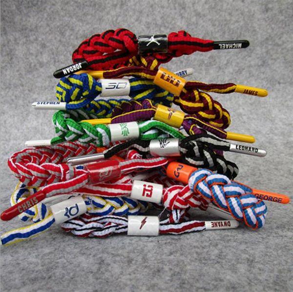 Basketball Star Braided Weave Bracelet Fashion Men Sports Bangle Couples Wristband Bracelets Shoelace Fashion Souvenirs Fans Gifts TL1208